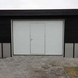 Autotallin nosto-ovi, käyntiovella